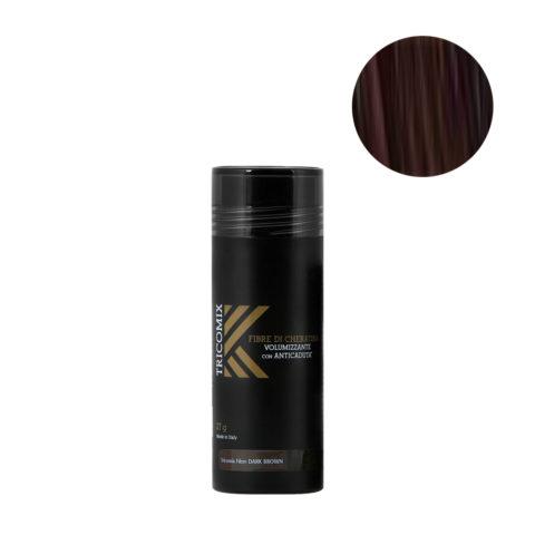 Tricomix Fibre Dark Brown 27gr - Fibres De Kératine Avec Effet Volumateur Et Antichute Châtain Foncé
