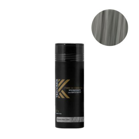 Tricomix Fibre Gray 27gr - Fibres De Kératine Avec Effet Volumateur Et Antichute Gris Moyen
