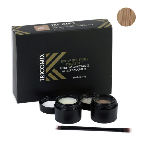 Tricomix Brow Light Brown 1,2g + 2g - Fibres Volumisantes Pour Sourcils - Châtain clair