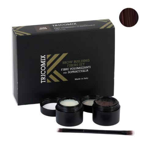 Tricomix Brow Dark Brown 1,2g + 2g - Fibres Volumisantes Pour Sourcils - Châtain foncé