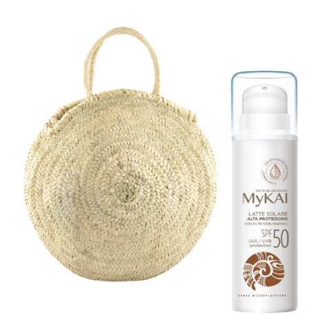 Mykai Crème Solaire Protection Haute SPF50, 150ml Sac à Main Gratuit
