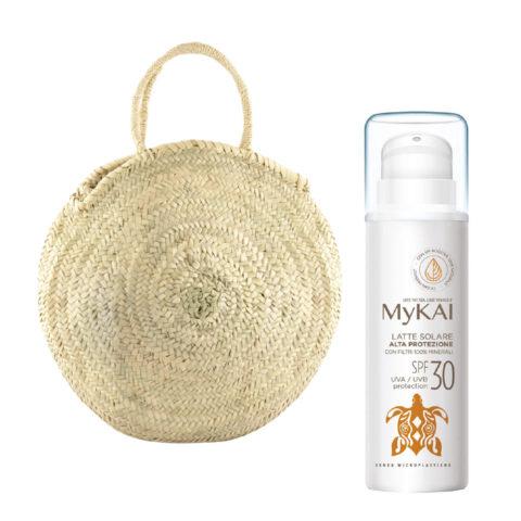 Mykai Crème Solaire Protection Haute SPF30, 150ml Sac à Main Gratuit