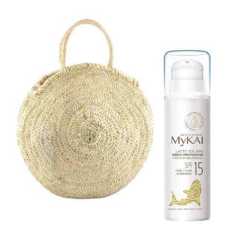 Mykai Crème Solaire Protection Moyenne SPF15, 150ml Sac à Main Gratuit