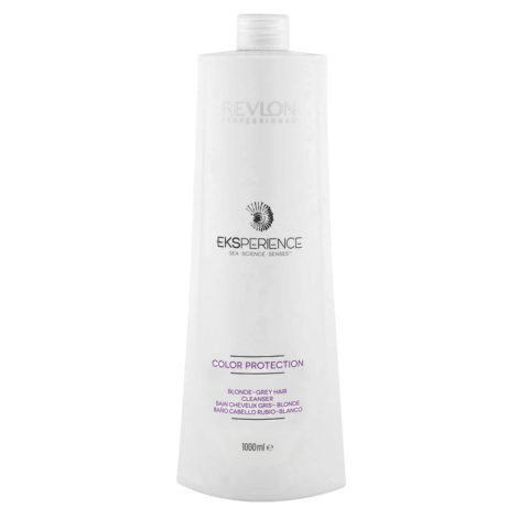 Eksperience Color Protection Blonde Grey Shampoo 1000ml - Pour Les Cheveux Blonds, Gris Ou Blancs