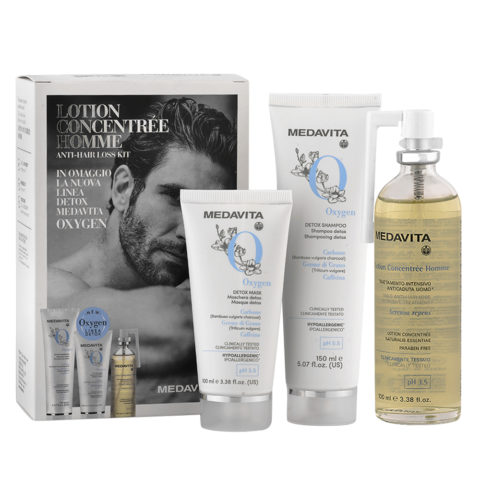 Medavita Cute Lotion Concentree Homme Kit completo anticaduta