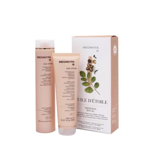 Medavita Rituale Huile d'Etoile Shampoo 250ml Mask 150ml Pour Des Cheveux Brillants Et Parfumés