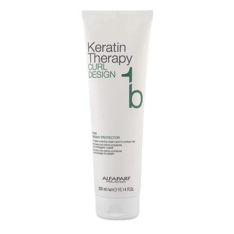 Alfaparf Keratin Therapy Curl Design 1b Move Creamy Protector 300ml - Crème Cheveux Bouclés