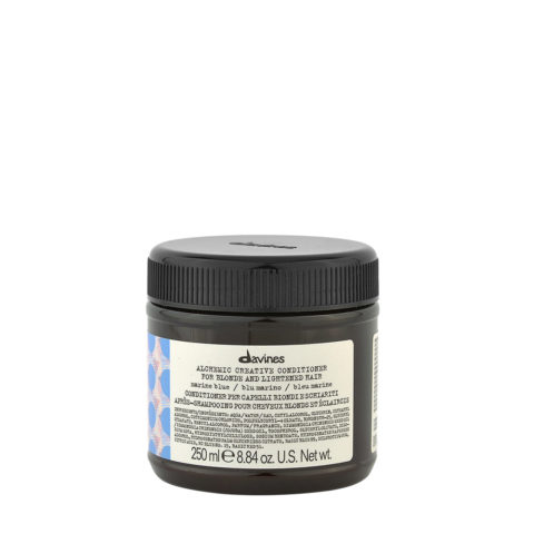 Davines Alchemic Creative Conditioner Marine Blue 250ml - Baume De Couleur Bleu Marine