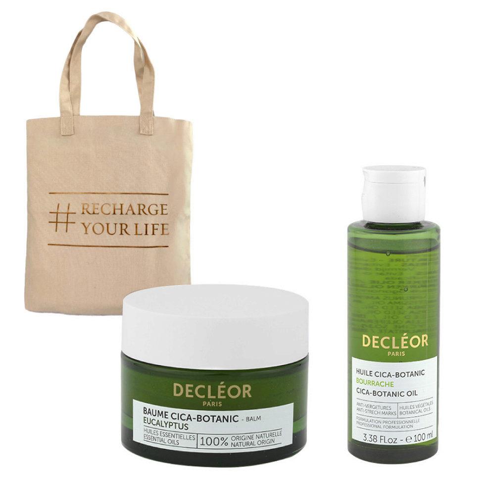 Decléor Body Care Cica-Botanic Kit Baume Eucalyptus 50ml Huile 100ml - sac cadeau