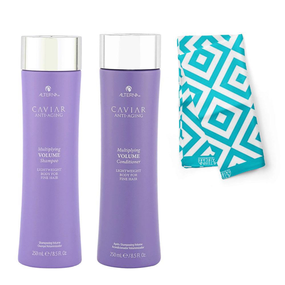 Alterna Caviar Multiplying Volume Kit Shampoo 250ml Conditioner 250ml - Pareo cadeau
