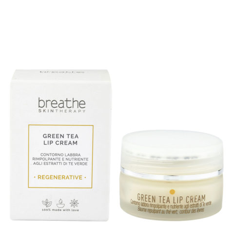 Naturalmente Breathe Regenerative Green Tea Lip Cream 15ml