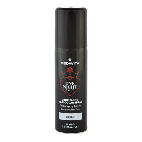 Medavita 24h Fancy Hair Color Spray Silver 75ml - couleur spray argent