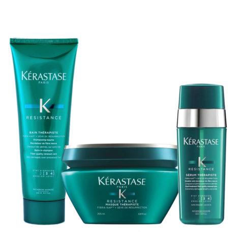 Kerastase Résistance Therapiste Shampoo Masque et Serum cheveux abimes