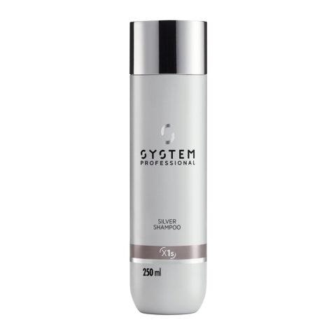 System Professional Silver Shampoo X1s, 250ml - Shampooing Anti - jaunissement