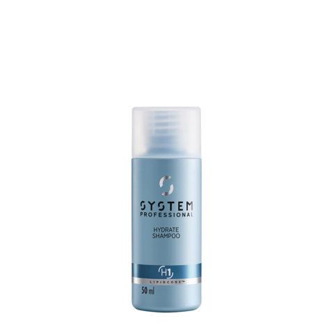 System Professional Hydrate Shampoo H1, 50ml -  Shampooing Hydratant