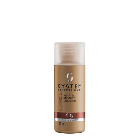 System Professional LuxeOil Shampoo L1, 50ml - Shampooing à la Kératine pour Cheveux Abîmés