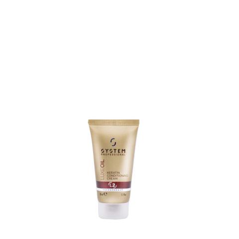 System Professional LuxeOil Conditioning Cream L2, 30ml - Apres - Shampooing à la Kératine pour Cheveux Abîmés