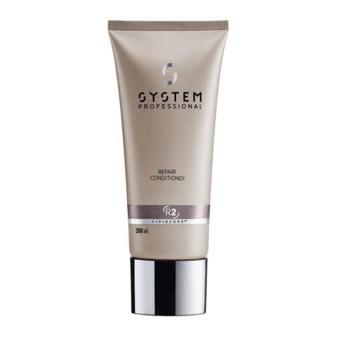 System Professional LuxeOil Conditioning Cream L2, 200ml - Apres - Shampooing à la Kératine pour Cheveux Abîmés