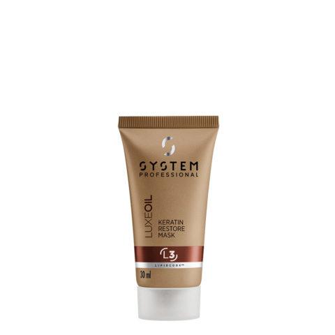 System Professional LuxeOil Mask L3, 30ml - Masque à la Kératine pour Cheveux Abîmés