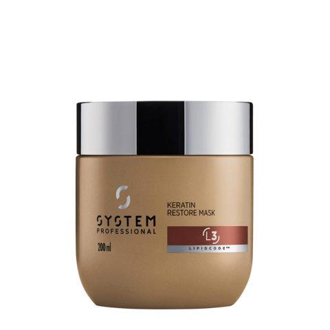 System Professional LuxeOil Mask L3, 200ml - Masque à la Kératine pour Cheveux Abîmés