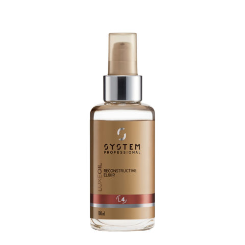System Professional LuxeOil Elisir L4, 100ml - Huile à la Kératine pour Cheveux Abîmés