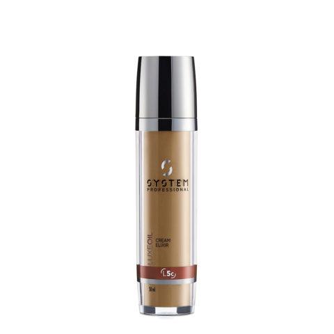 System Professional LuxeOil Cream Elixir L5c, 50ml - Creme à la Kératine pour Cheveux Abîmés