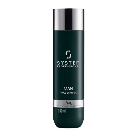 System Professional Man Triple Shampoo M1, 250ml - Shampooing Cheveux Corps et Barbe