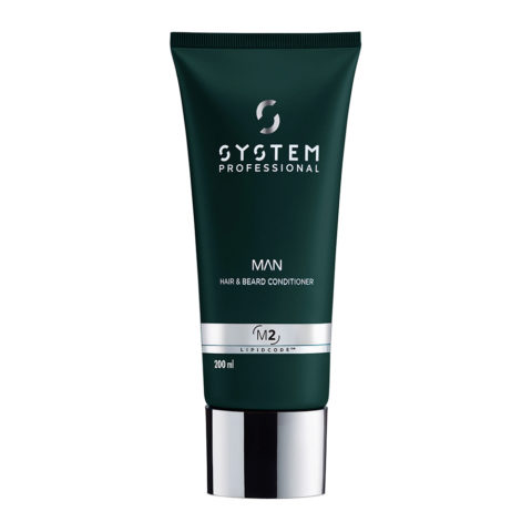 System Professional Man Hair & Beard Conditioner M2, 200ml - Apres-Shampooing Cheveux et Barbe