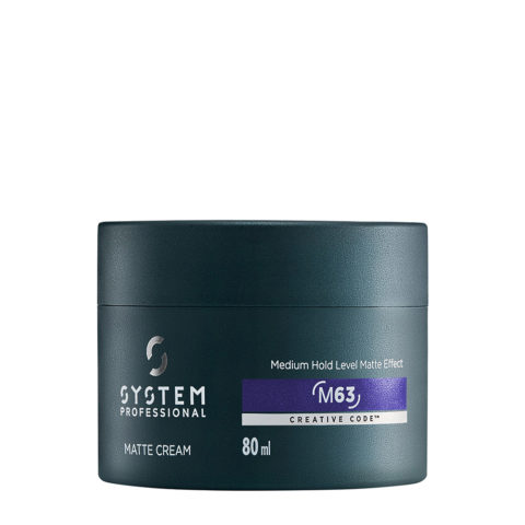System Professional Man Matte Cream M63, 80ml - Cire Mate à tenue moyenne