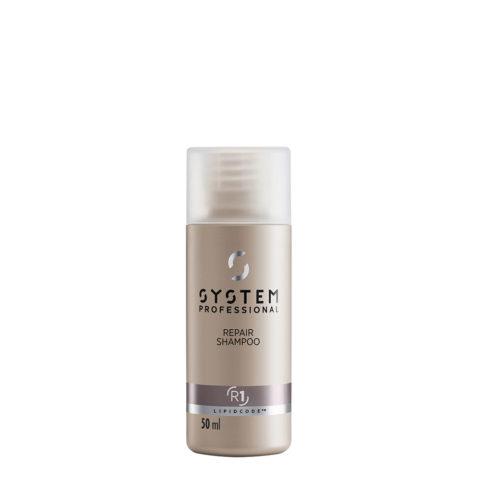 System Professional Repair Shampoo R1, 50ml - Shampooing Fortifiant pour Cheveux Abîmés