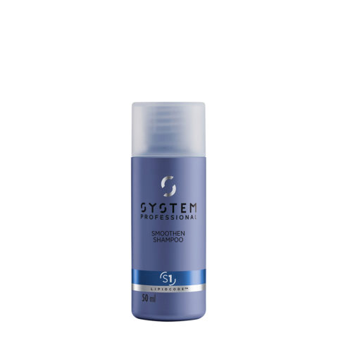 System Professional Smoothen Shampoo S1, 50ml - Shampooing Anti Frisottis