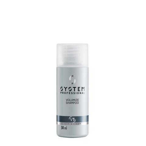 System Professional Volumize Shampoo V1, 50ml - Shampooing Volumateur Cheveux Fins