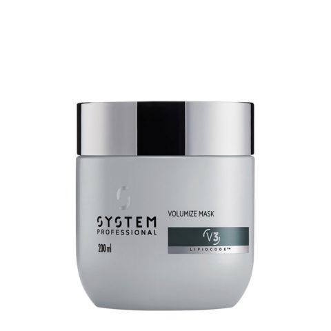 System Professional Volumize Mask V3, 200ml - Masque Volumateur Cheveux Fins