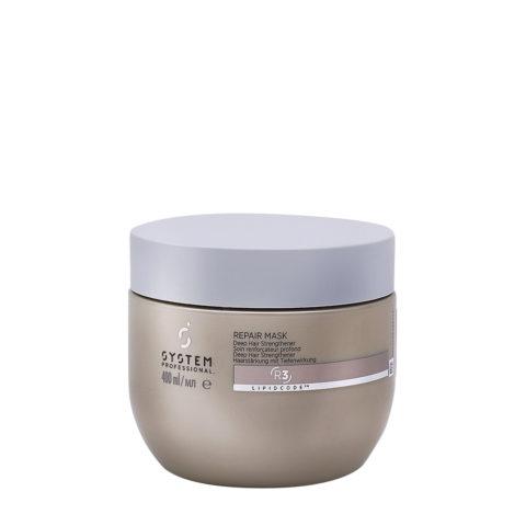 System Professional Repair Mask R3, 400ml - Masque Fortifiant pour Cheveux Abîmés