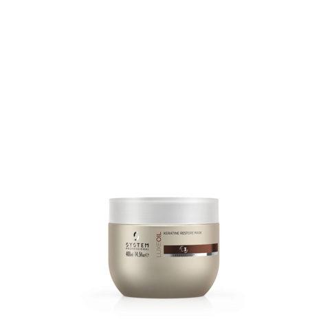 System Professional LuxeOil Mask L3, 400ml - Masque à la Kératine pour Cheveux Abîmés