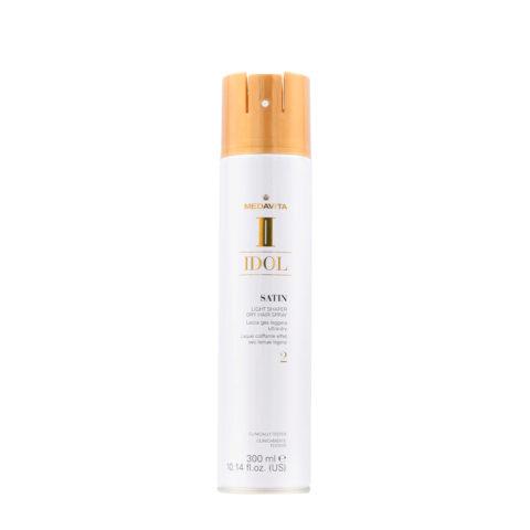 Medavita Idol Styling Satin Light Shaper Dry Hairspray 2, 300ml - Laque Coiffante tenue légère