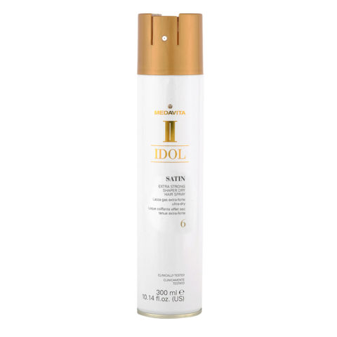 Medavita Idol Styling Satin Extra Strong Shaper Dry Hairspray 6,  300ml - Laque Coiffante tenue extra fort