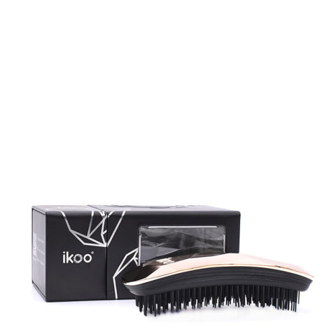 Ikoo Ergonomic Brush Black Gold Digger light pink