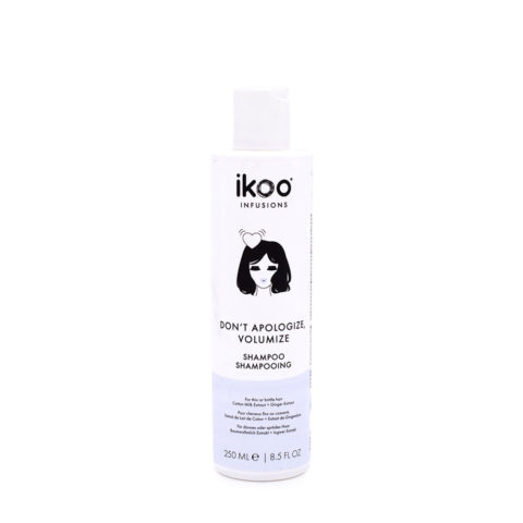 Ikoo Don't Apologize, Volumize Shampoo 250ml - cheveux fins