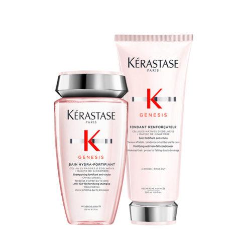 Kerastase Genesis Kit Shampoo 250ml + Conditioner 200ml Fortifiant Et Hydratante