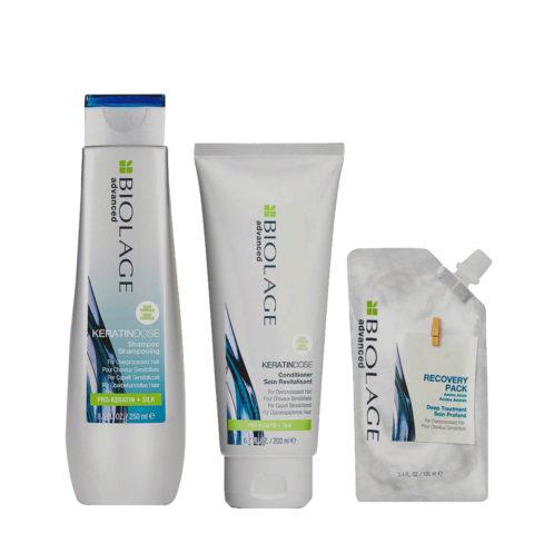 Biolage Advanced Keratindose Shampoo 250ml Conditioner 200ml e Pack 100ml
