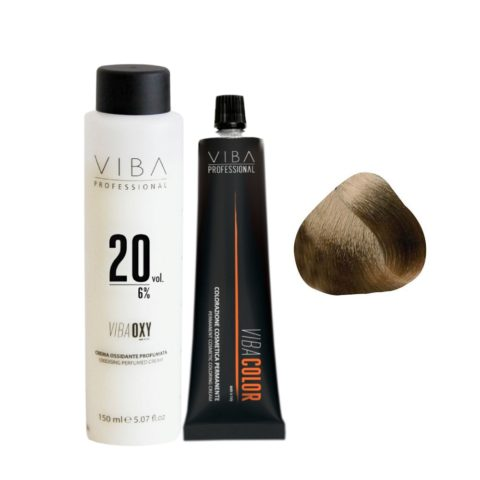 Viba Professional Kit Color 6 Dark Blonde and Developer 20 vol
