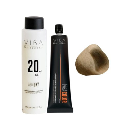 Viba Professional Kit Color 7 Medium Blonde and Developer 20 vol