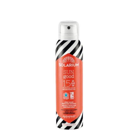 Solarium Invisible Protection Sunscreen Spray SPF15 Visage Et Corps 150ml