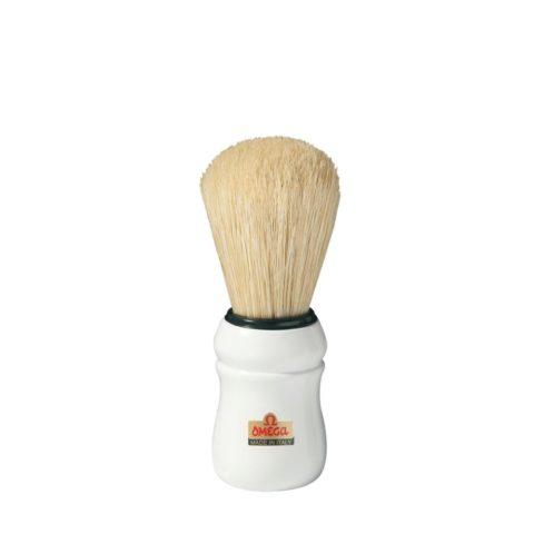 Omega Shaving Blaireau de rasage blanche