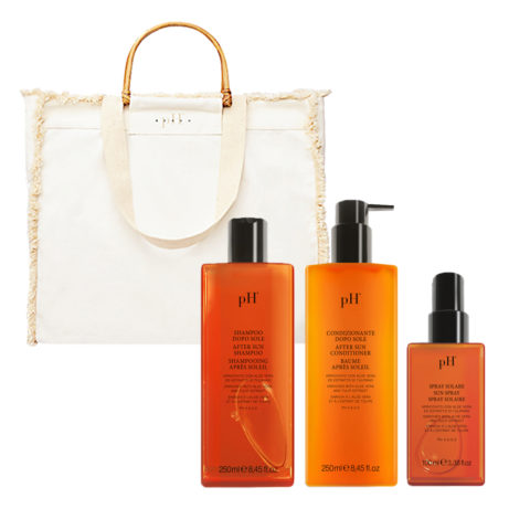 PH Laboratories Kit Sun Shampoo 250ml Conditioner 250ml Spray 100ml Sac De Plage Gratuit