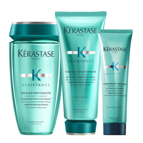 Kerastase Résistance Extentioniste Shampooing 250ml Conditioner 200ml Gel Crème Protection Thérmique 150ml