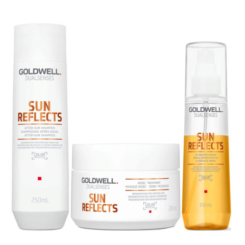 Goldwell Dualsenses Sun reflects After sun shampoo 250ml After Sun Mask 200ml UV protect spray 150ml