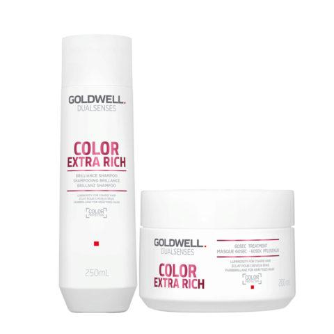 Goldwell Dualsenses Color Extra Rich Brilliance Shampooing 250ml et Masque 200ml cheveux colorès gros