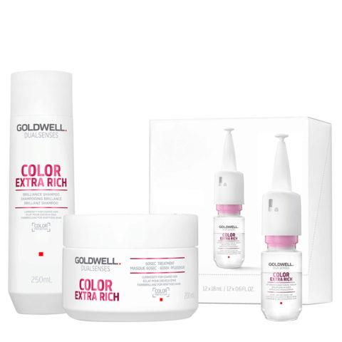 Goldwell Dualsenses Color Extra Rich Brilliance Shampooing 250ml Masque 200ml Serum 12x18m colorès gros